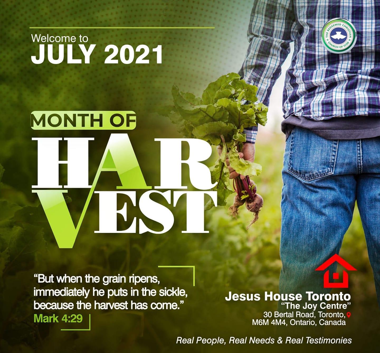 July 2021 - Month of Harvest
