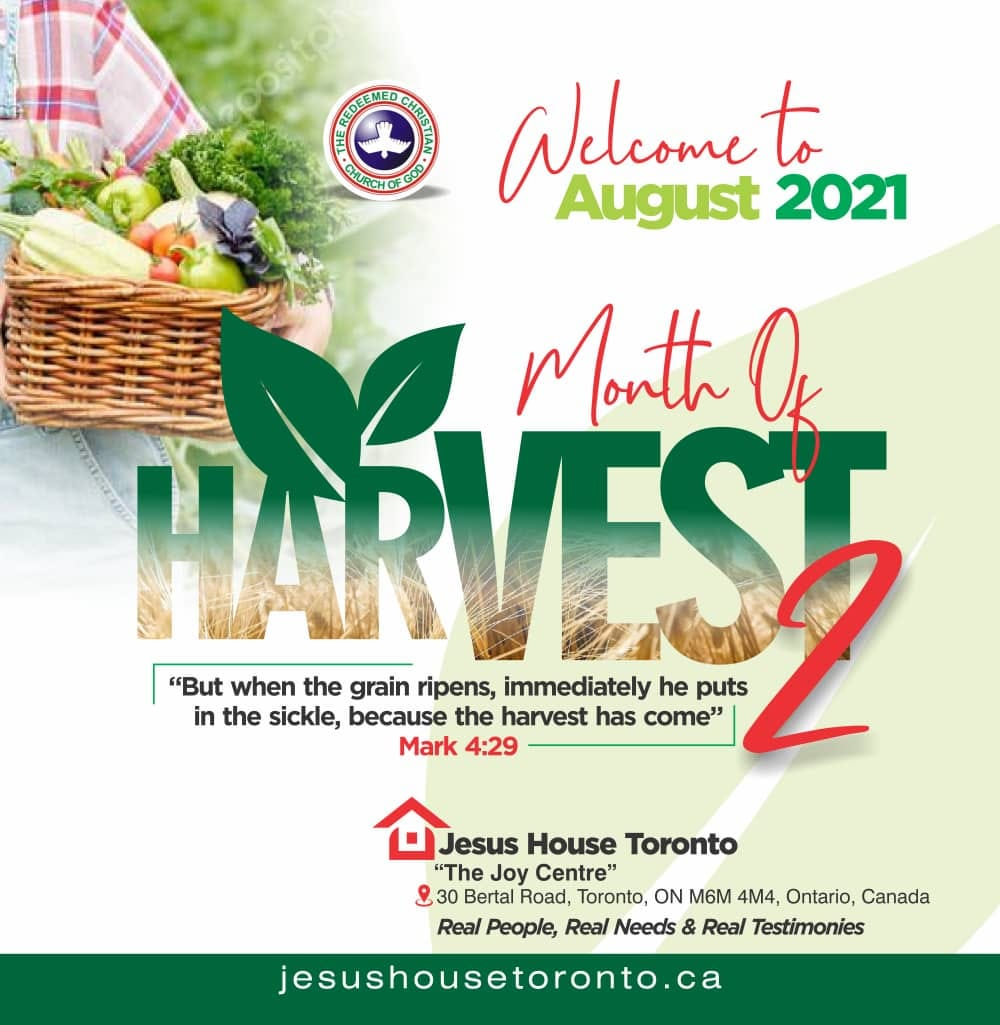 August 2021 - Month of Harvest 2